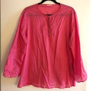 Gianni Bini Pink Blouse Size Large
